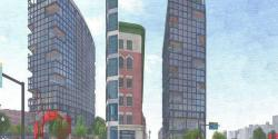 Renderings of the tower proposed for 125 Lincoln St.(GENSLER)